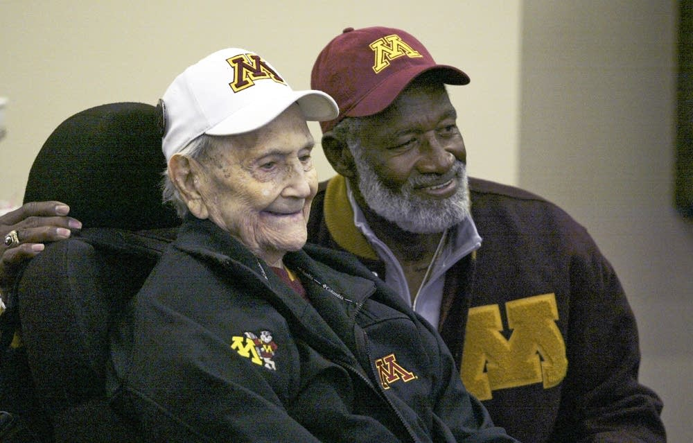 Bobby Bell with Murray Warmath