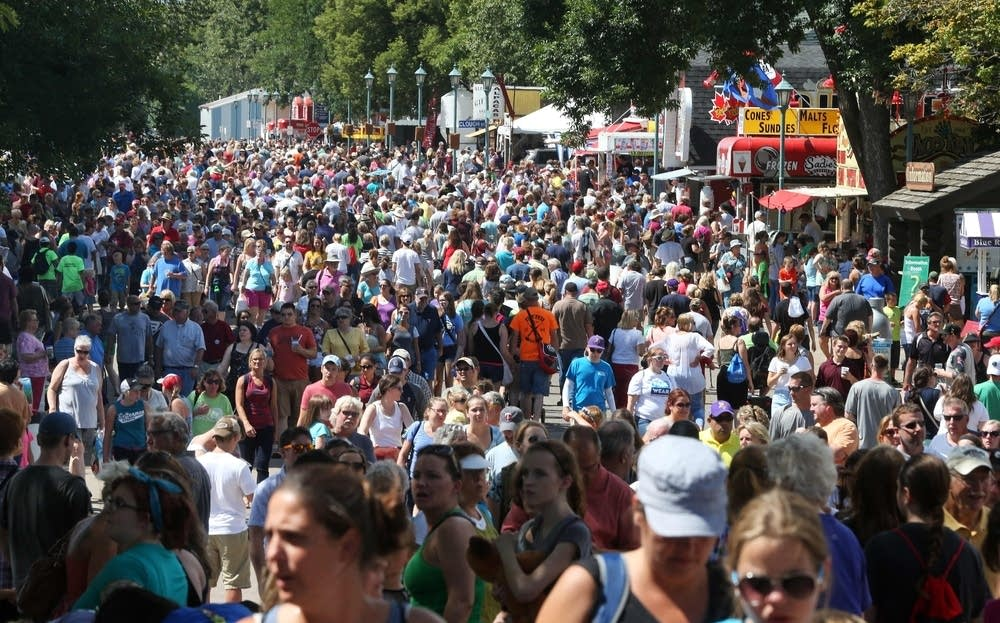 Crowds at the State Fair