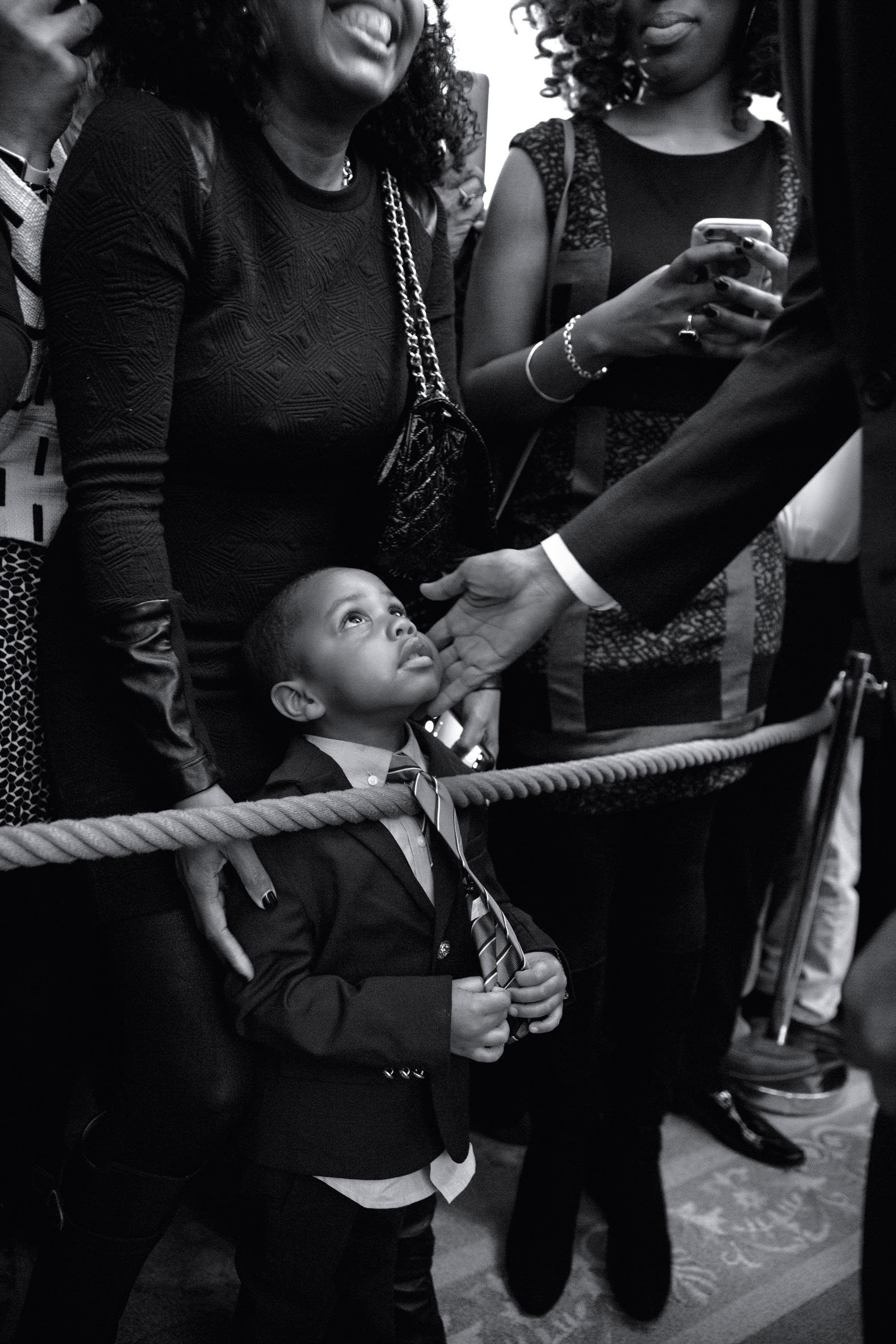 Obama greets 3-year-old Clark Reynolds in 2016
