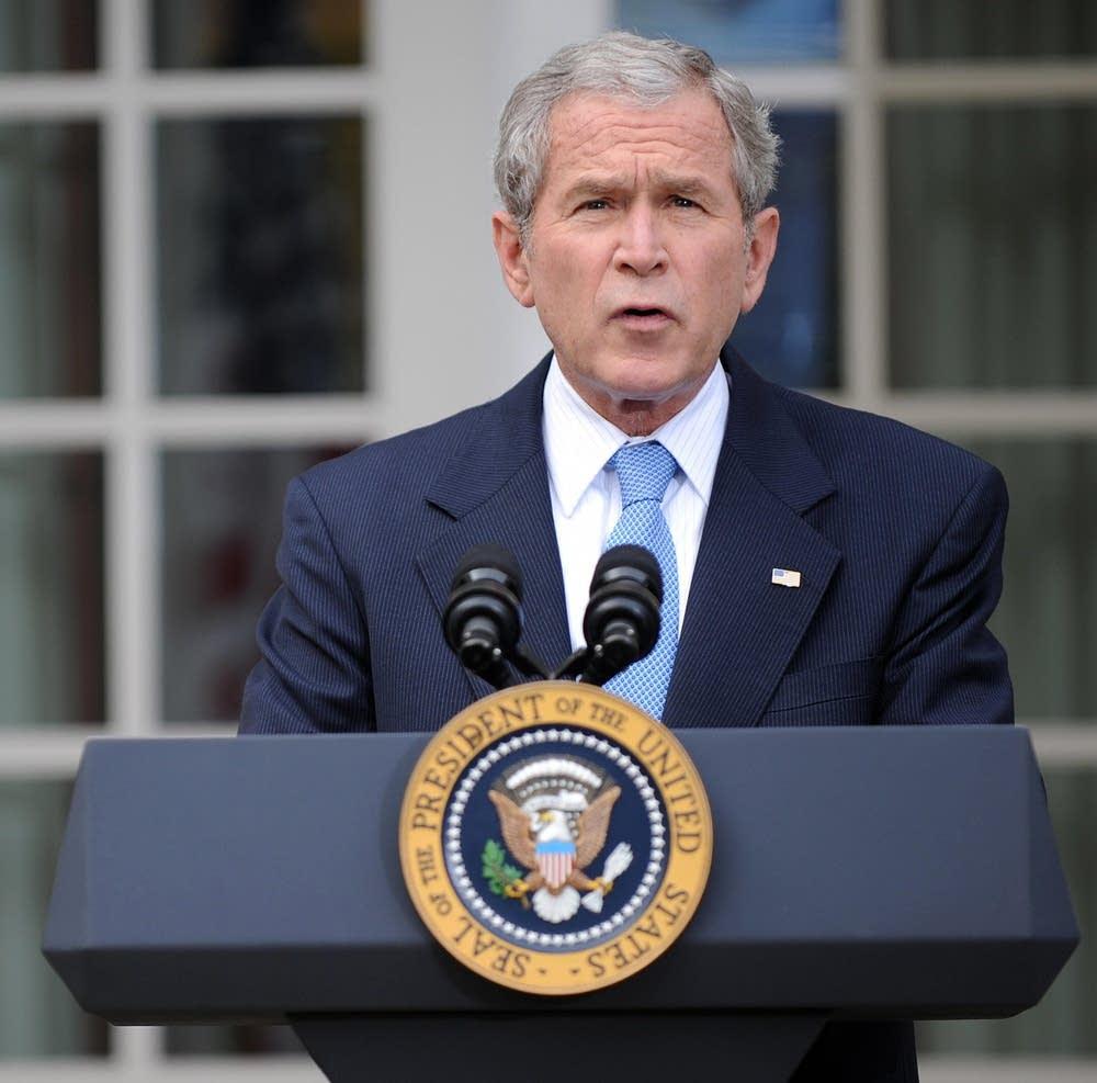 President George Bush remarks on Obama's victory