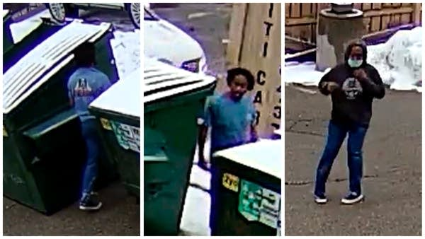 A collection of three surveillance images released by police.