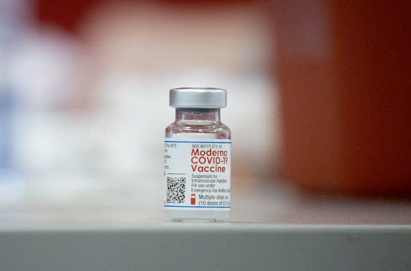 A vial of a vaccine.