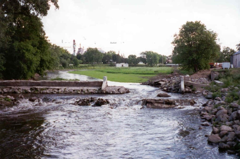 Before dam was removed