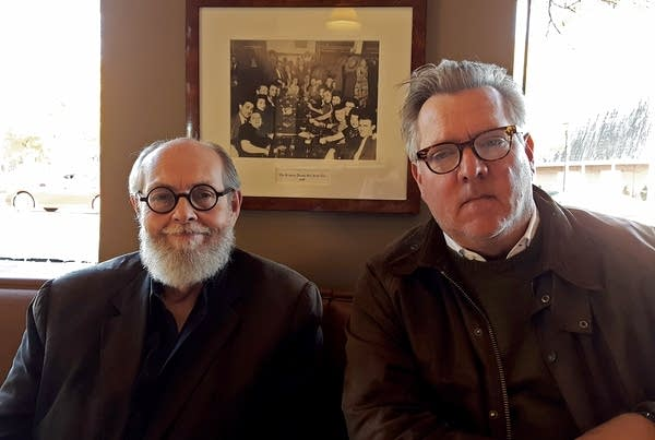 Playwright Jeffrey Hatcher, left, and musician and composer Chan Poling