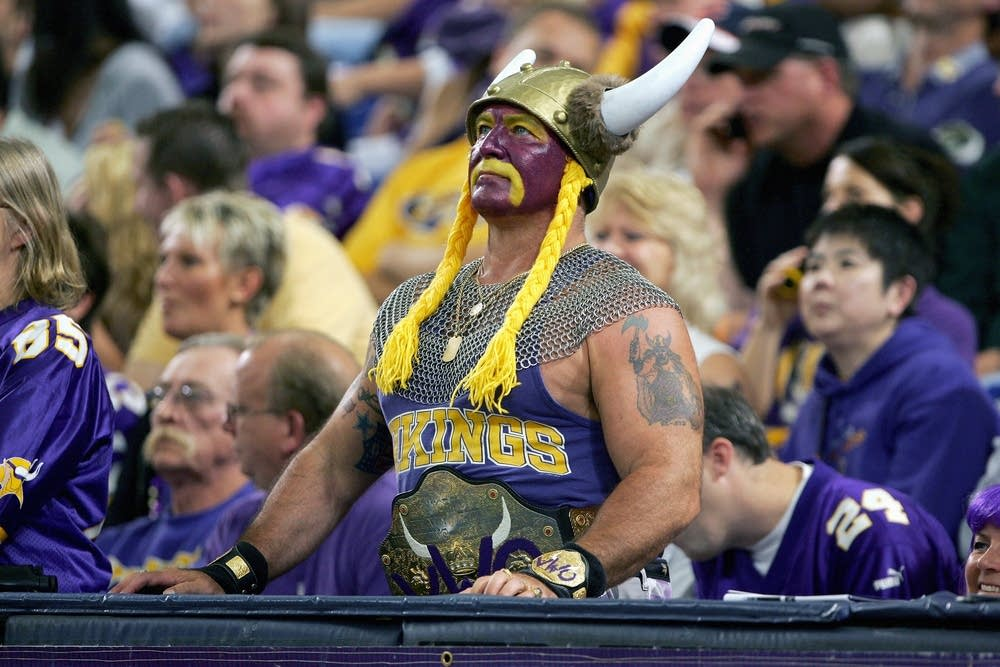 Vikings fans at the Metrodome