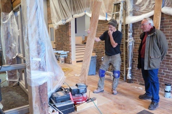Renovating an old building in Winona, Minn.