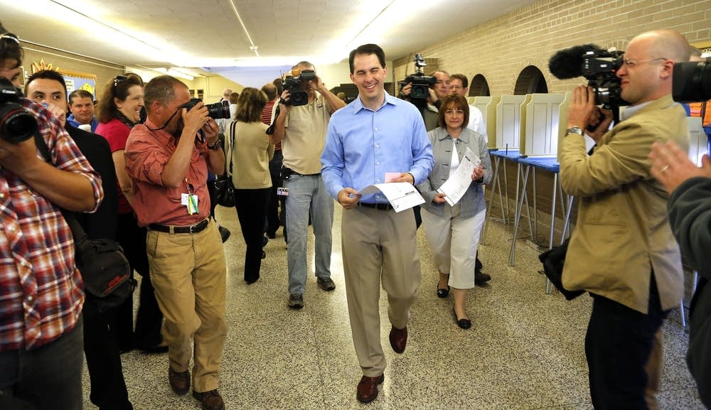 Gov. Walker Votes In Wisconsin Recall Election