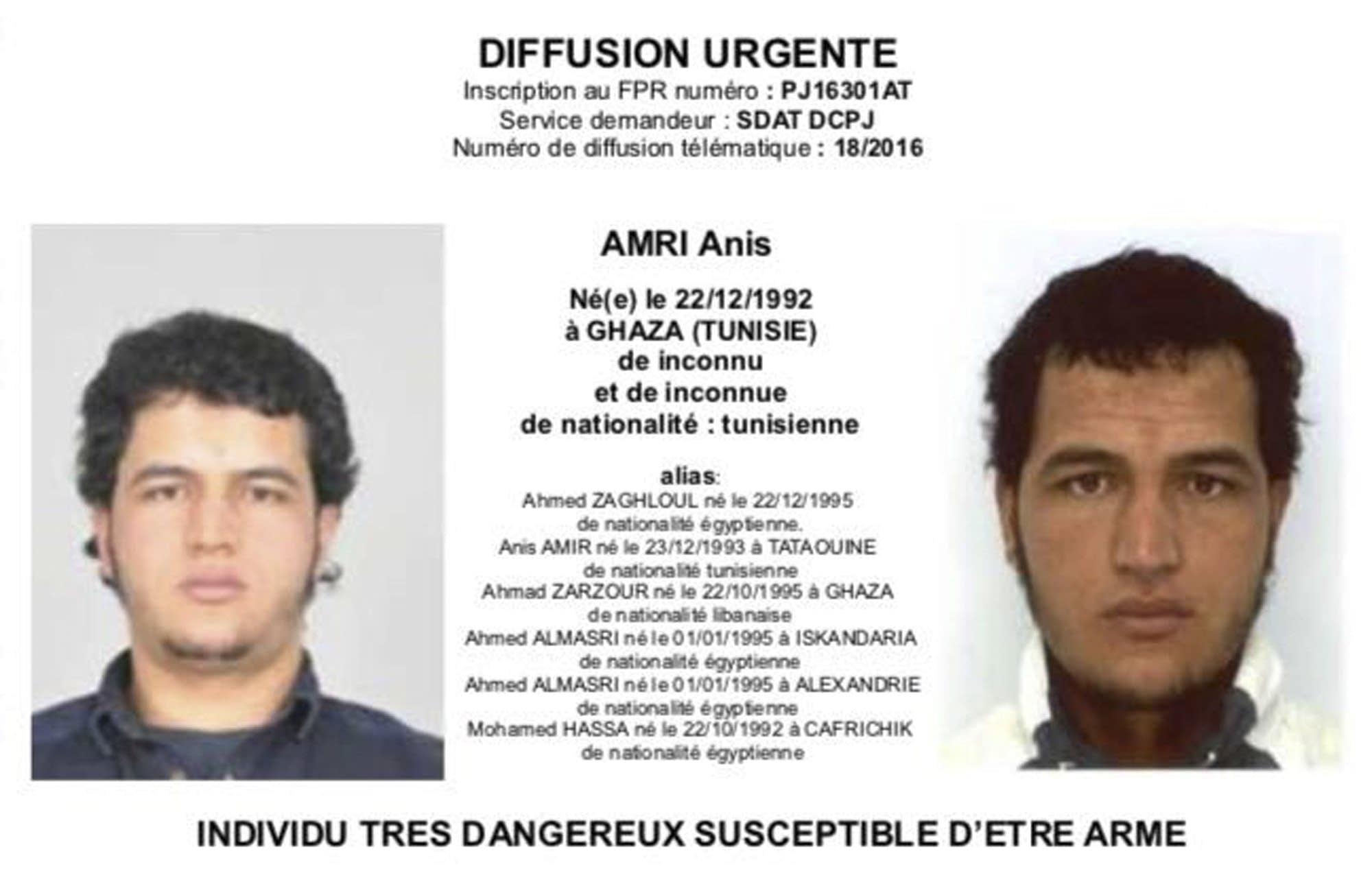 Berlin attack suspect shot dead in Milan