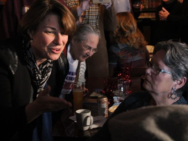 Amy Klobuchar campaigns in Iowa