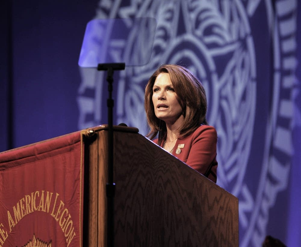 Michele Bachmann address the American Legion