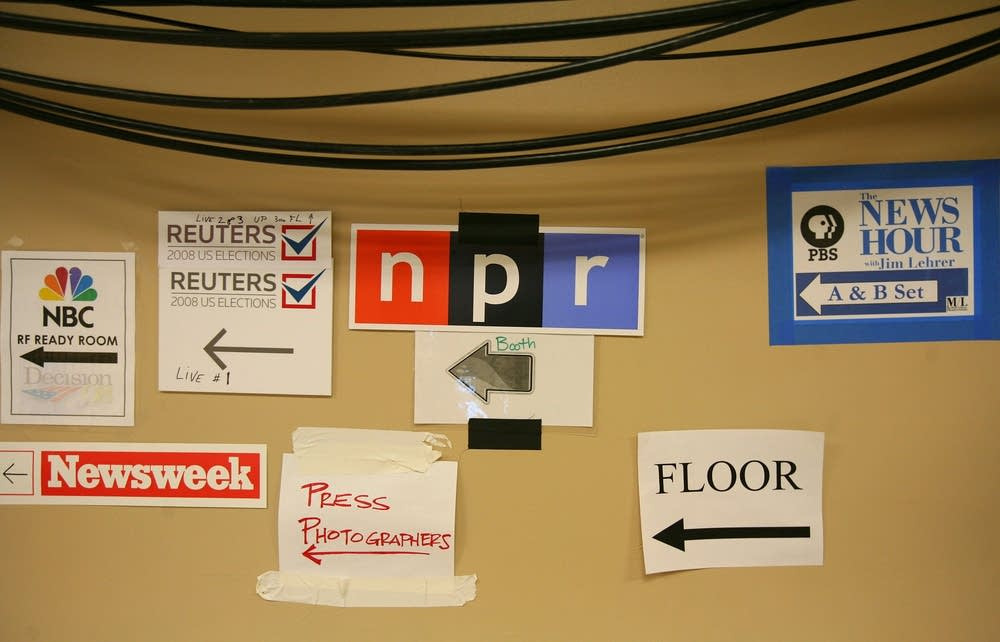 Media signs point the way at the DNC