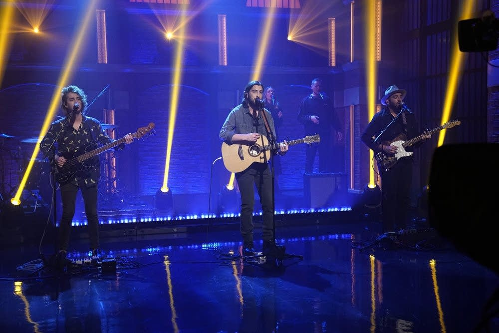 Noah Kahan performs on 'Late Night with Seth Meyers'