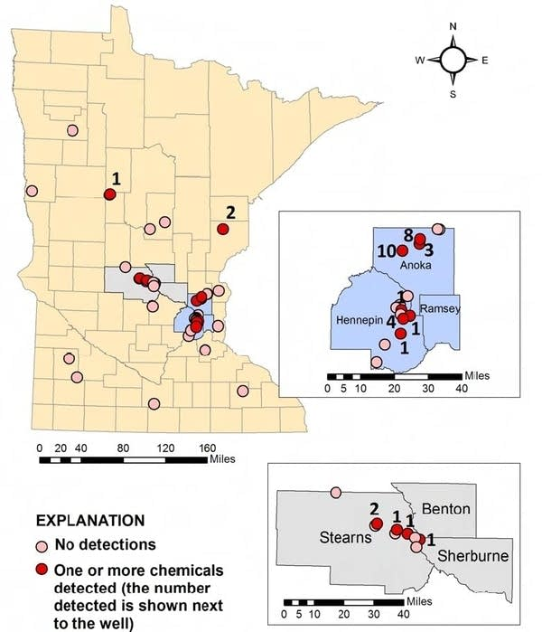 Map: MN groundwater contaminants