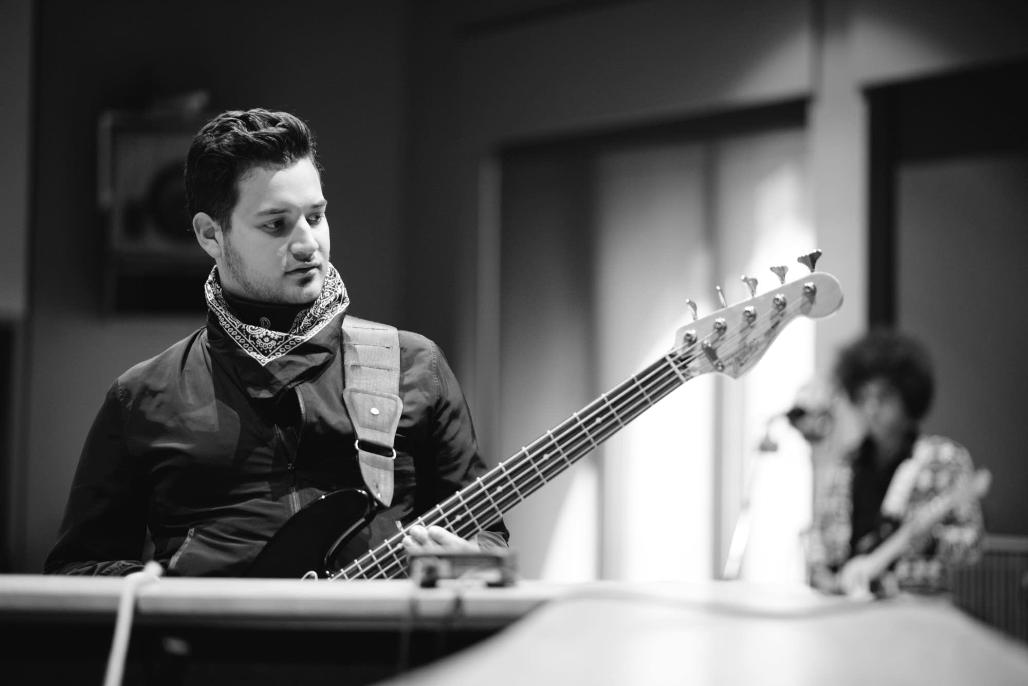 Ethan Yeshaya in The Current's studio