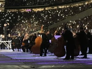 Minnesota Orchestra performs during halftime