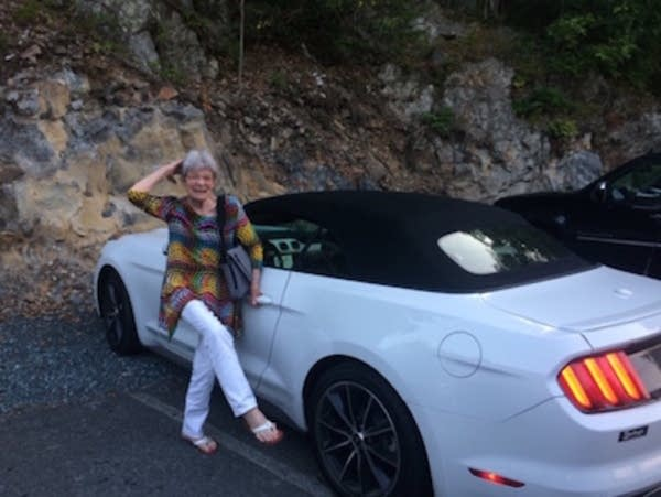 The irrepressible Cinda Dudley did love her Mustang convertible.