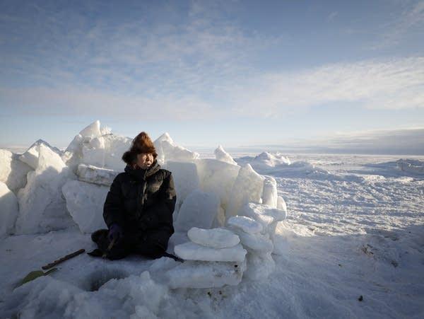 Mary Kailukiak fishes on the Bering Sea