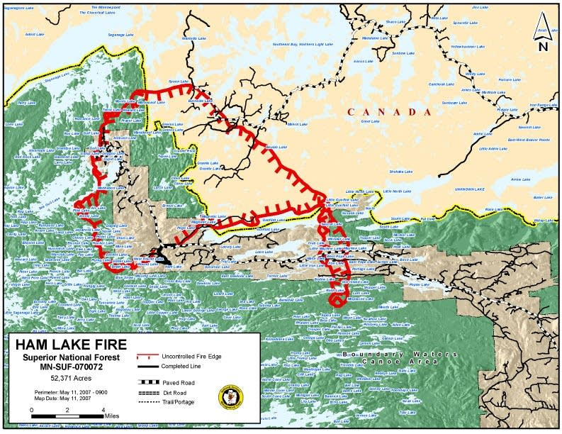 Perimeter of the fire
