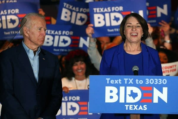 Sen. Amy Klobuchar endorses Democratic presidential candidate Joe Biden