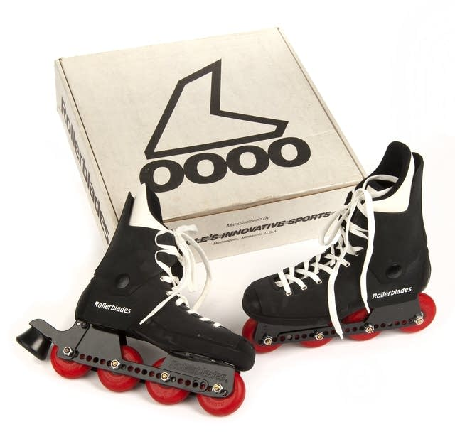An early set of Rollerblades