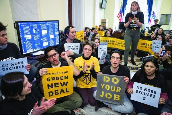 Activists occupy the office of House Democratic Leader Nancy Pelosi