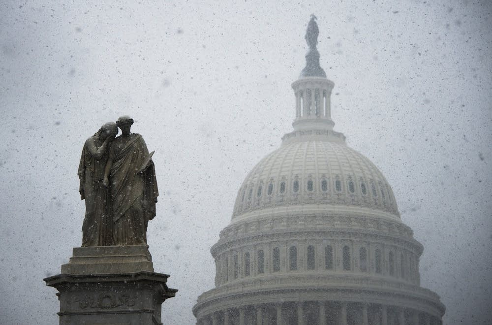 US Capitol snow
