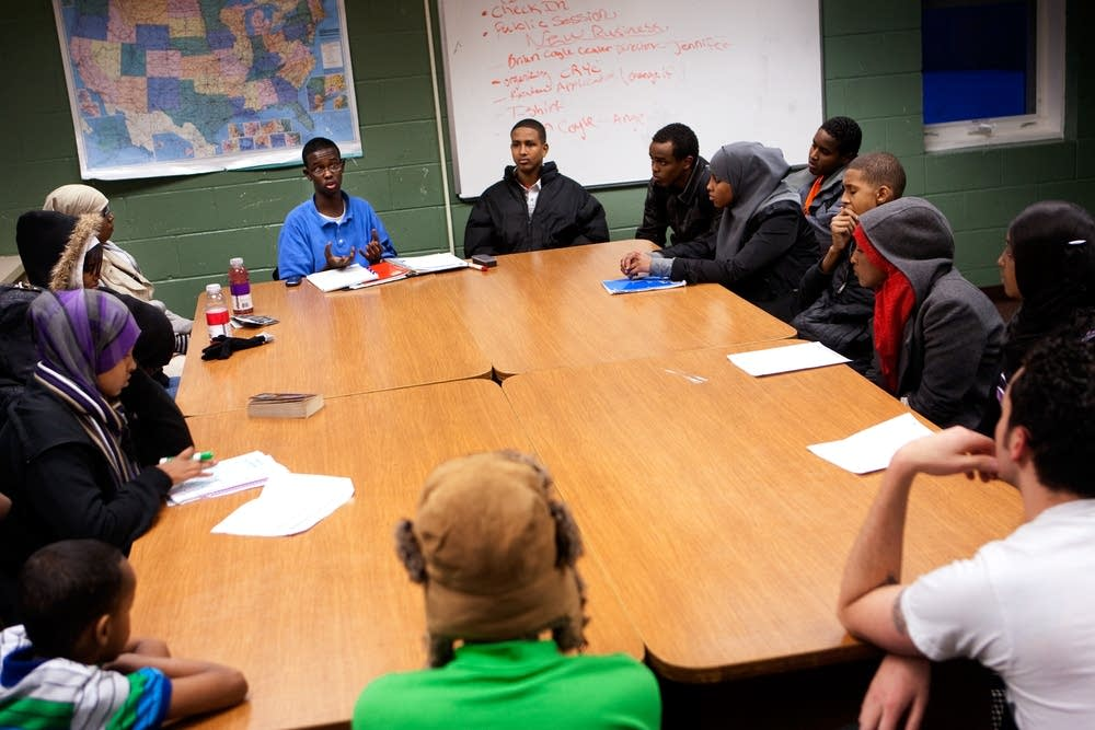 A Cedar-Riverside Youth Council meeting