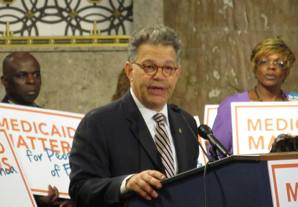 Franken at Medicaid rally