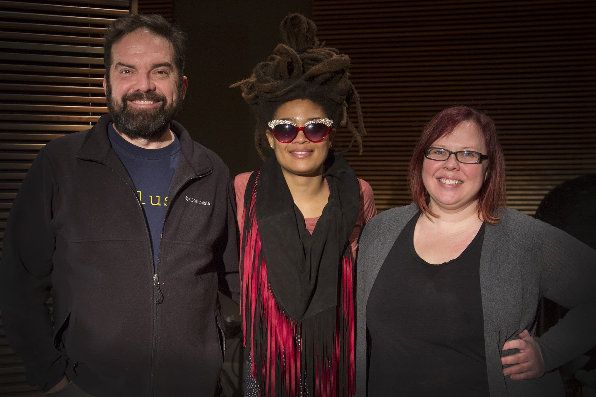 Brian Oake, Valerie June and Jill Riley in The Current studio.