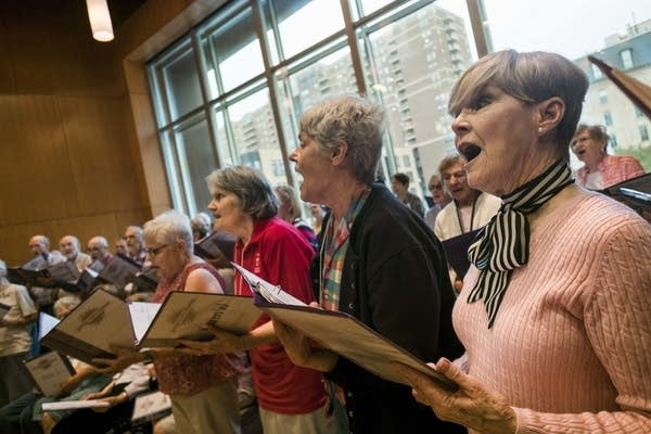 Members of the Giving Voice Chorus rehearse