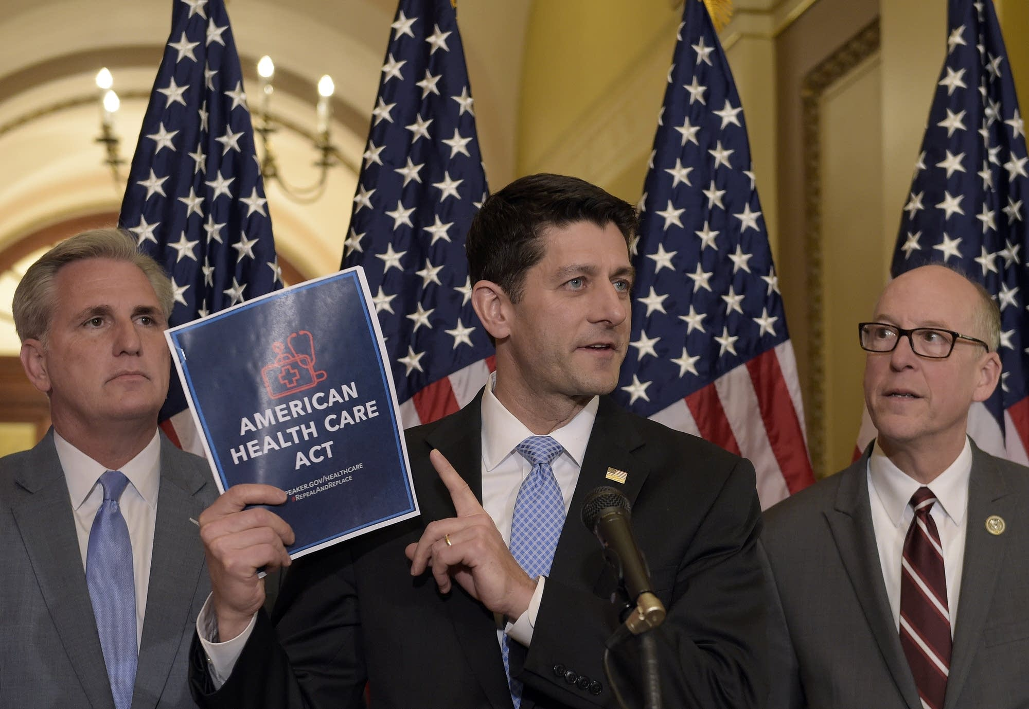 Paul Ryan, Greg Walden and Kevin McCarthy