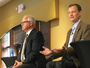Republican Jeff Johnson debates his DFL opponent Tim Walz.