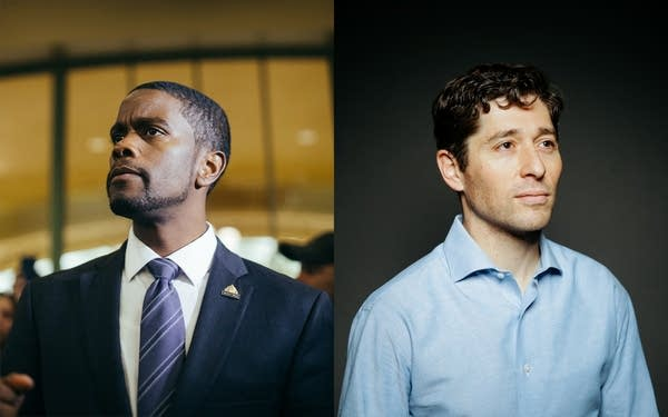 A composite image of Melvin Carter and Jacob Frey