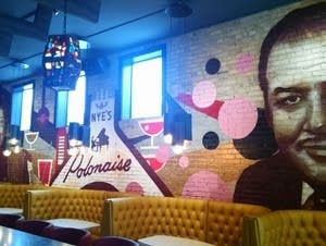 A tribute mural inside the new Nye's bar