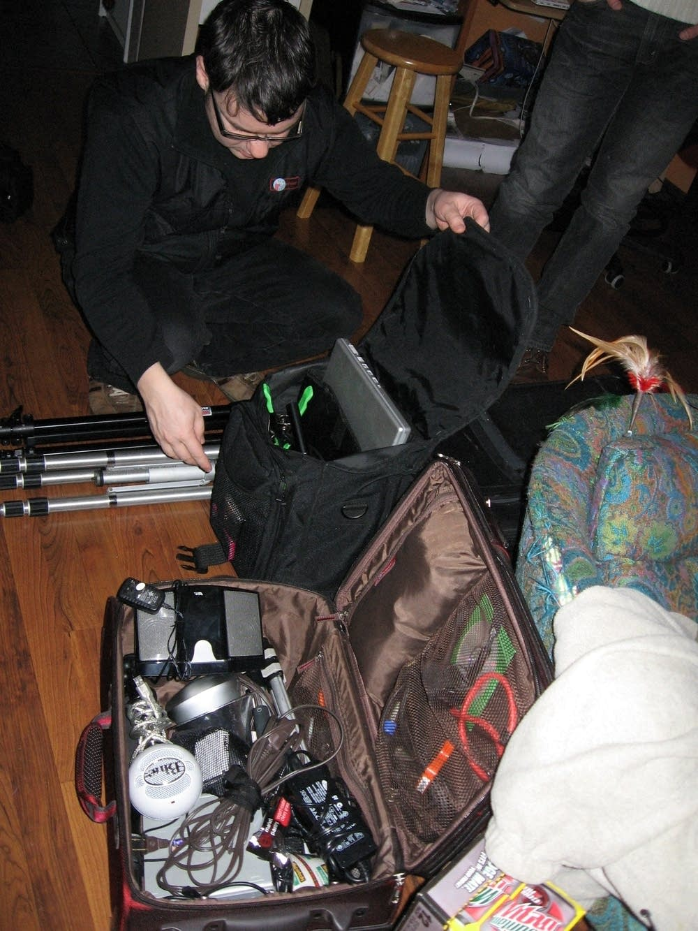 Packing video gear
