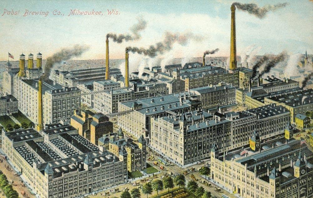 Milwaukee's Pabst Brewery, circa 1900