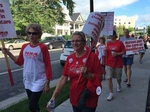 Nurses walk the picket line