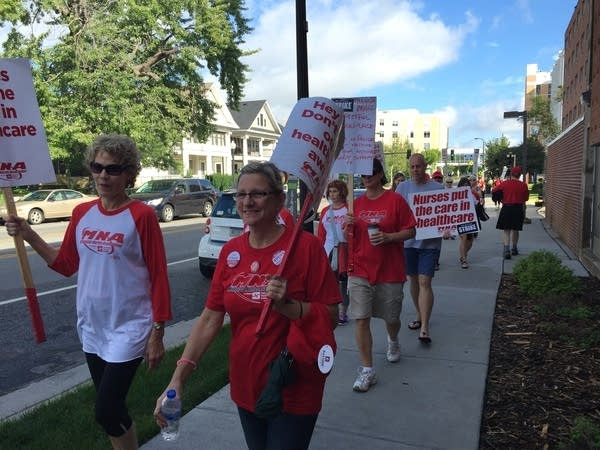 Nurses walk the picket line