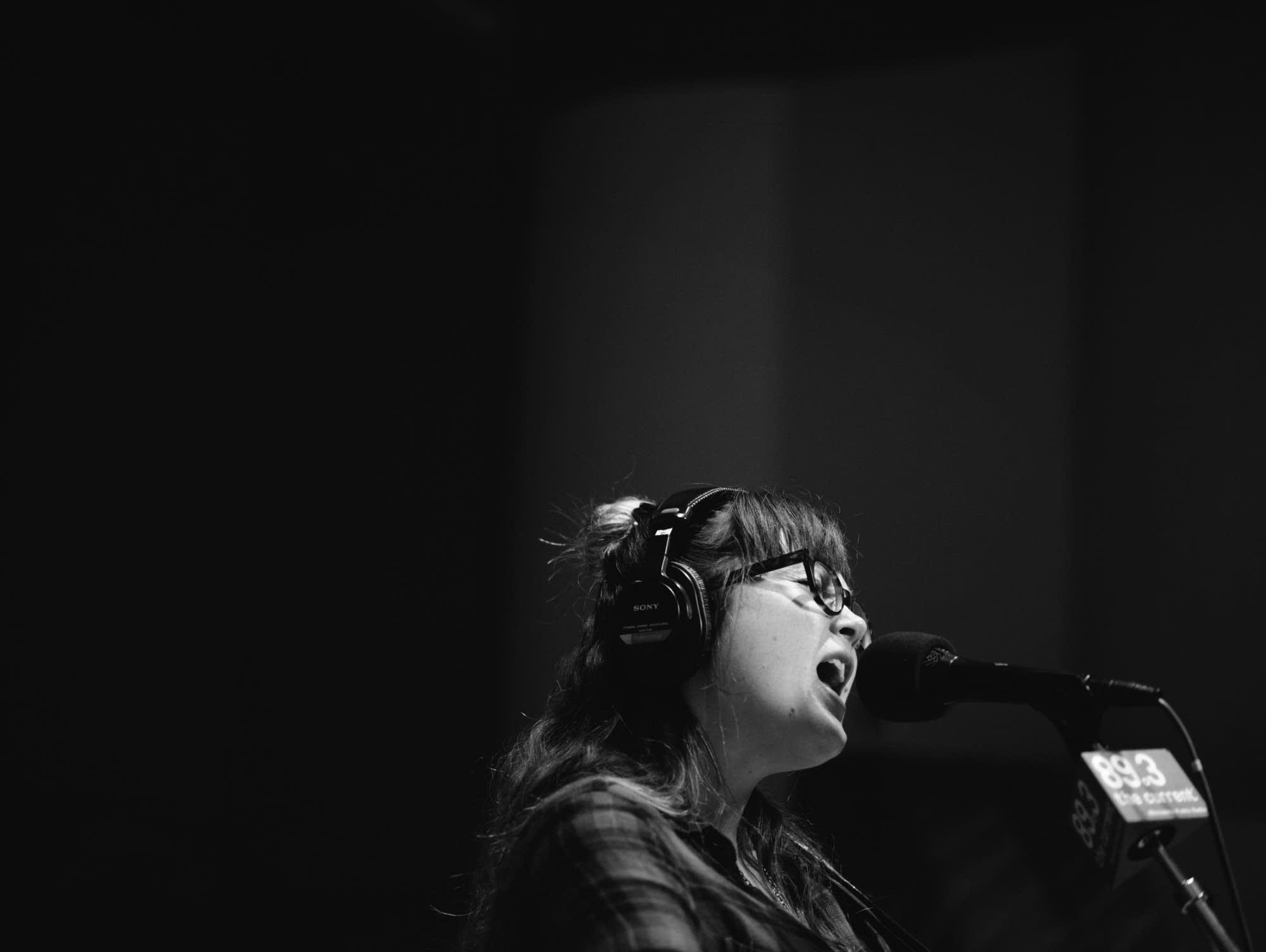 Sara Watkins performs in The Current studio.