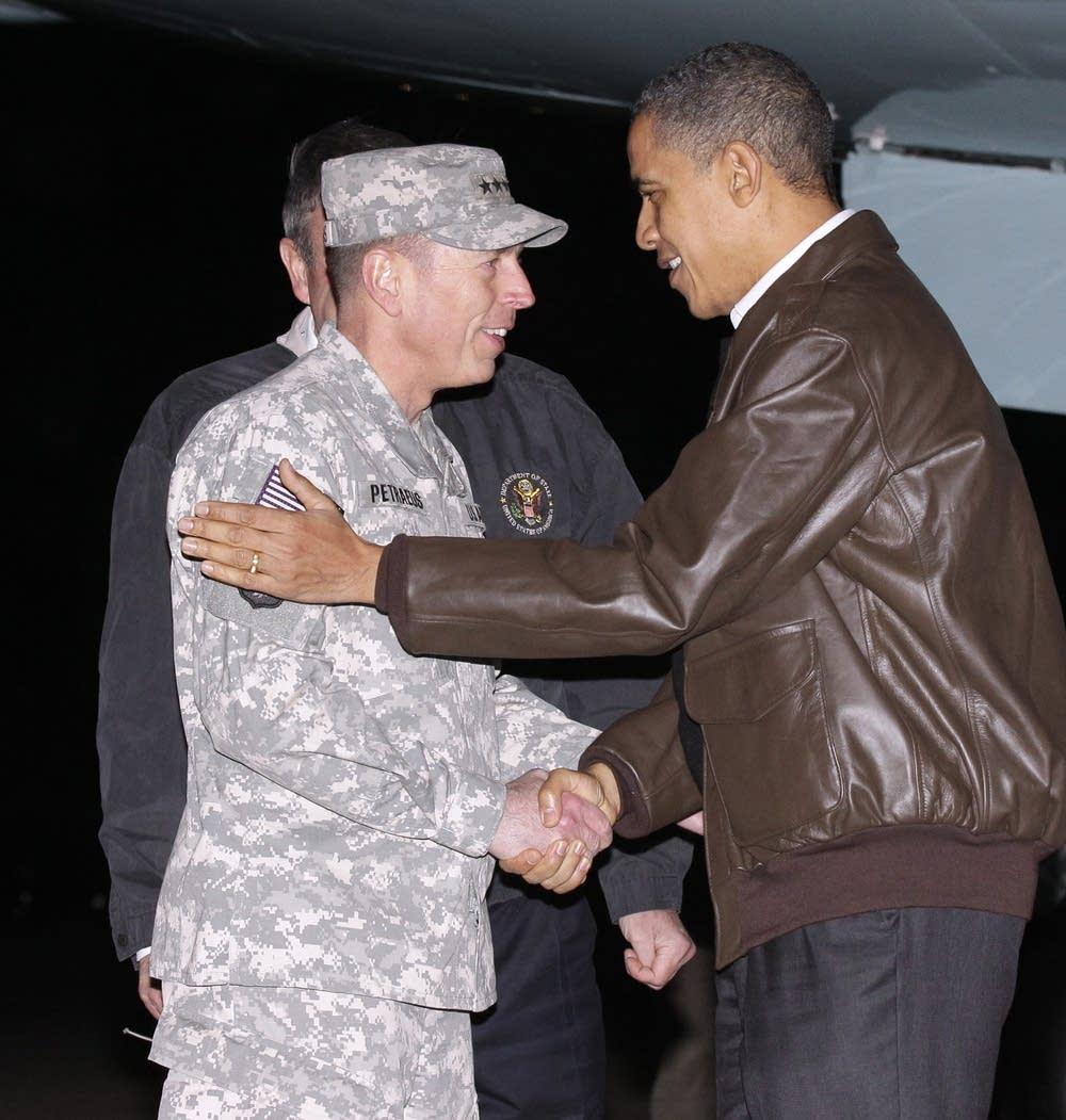 Barack Obama, Karl W. Elkenberry, David Petraeus