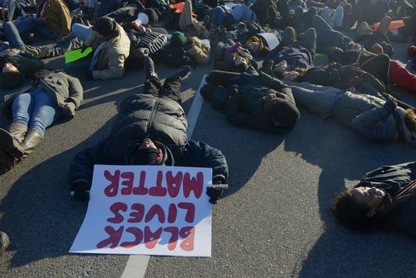 Protesting the choking of Eric Garner.