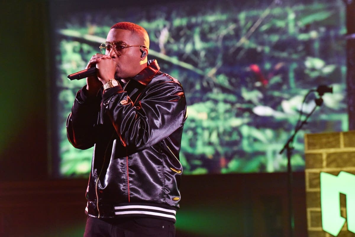 Hip-hop artist Nas on 'The Late Show with Stephen Colbert'
