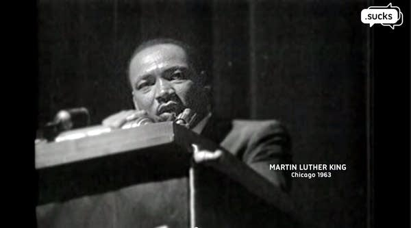 Sucks video used speech of Martin Luther King, Jr.