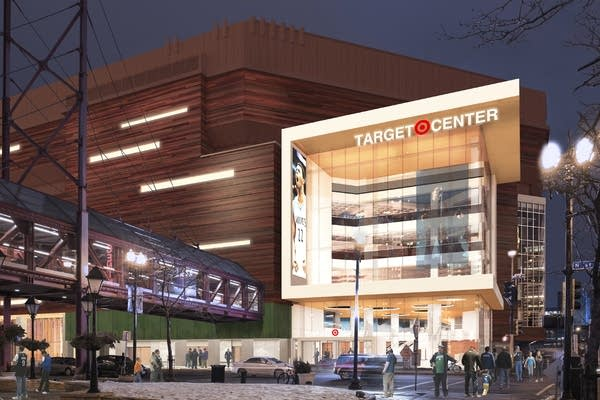 An artist rendering of the renovated Target Center