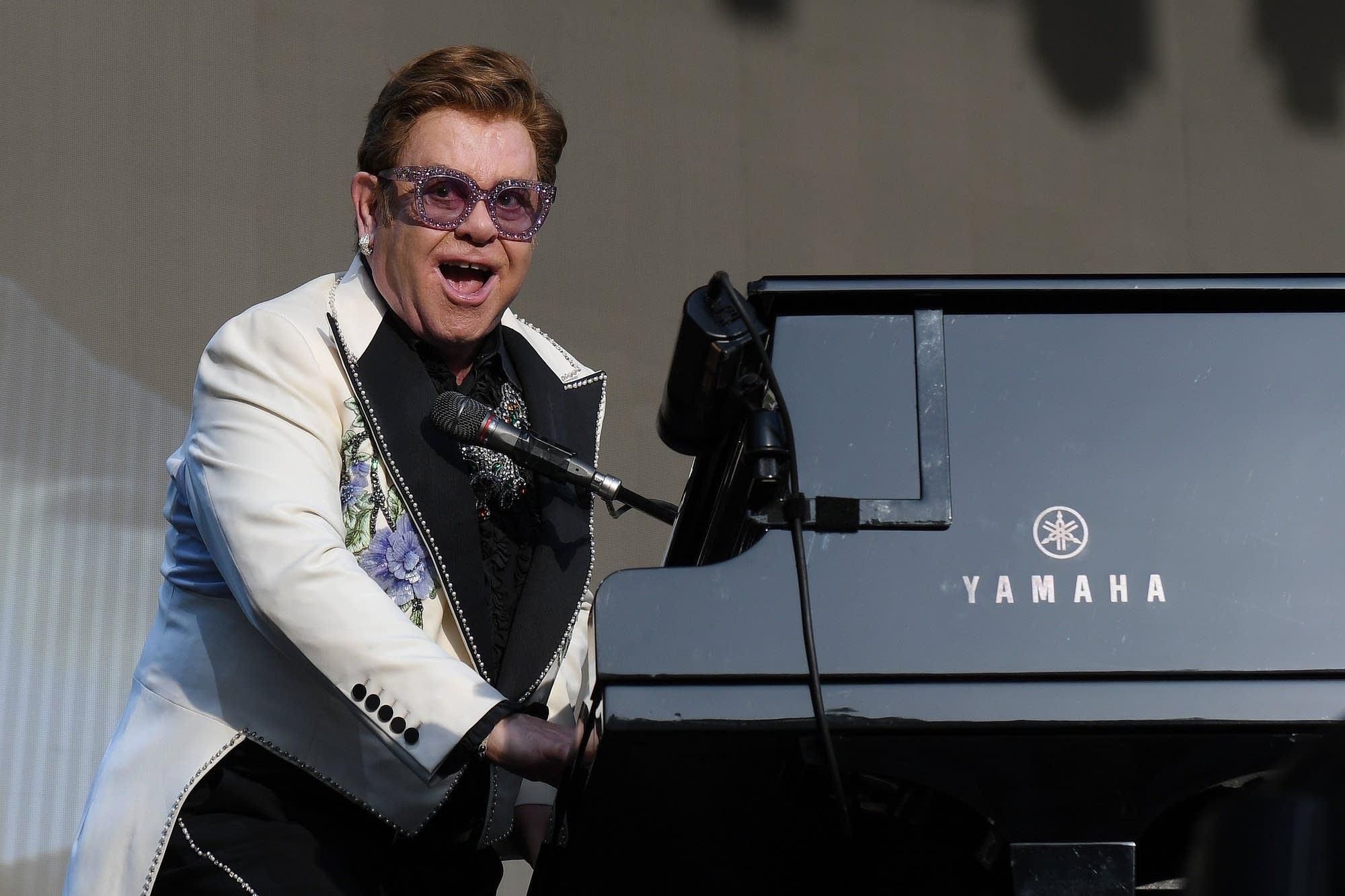 Elton John performing in February 2020