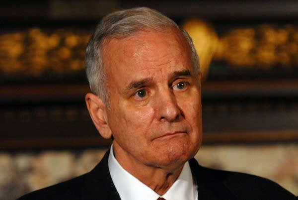 Gov. Mark Dayton takes questions from reporters on June 25, 2013. (MPR Photo/ Tim Nelson)