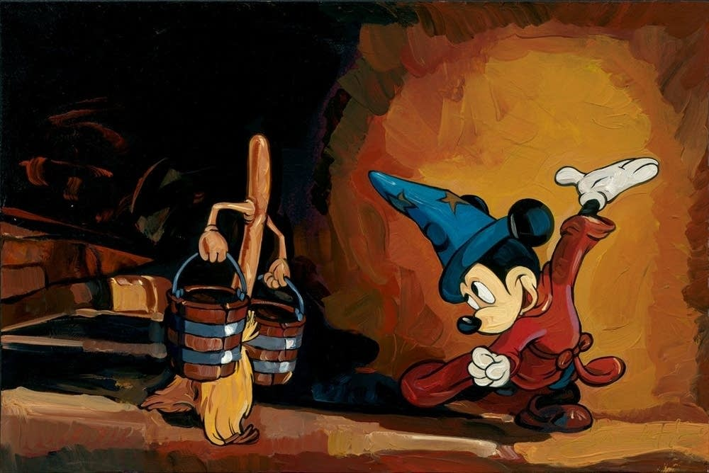 Mickey Mouse in The Sorcerer's Artist rendition of