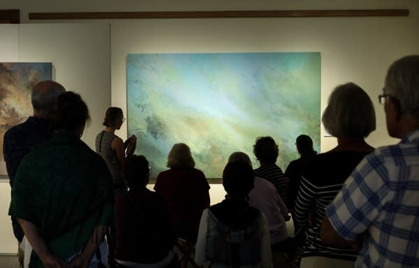 """Painter Annie Hejny leads a tour of her exhibition """"Waterlines"""""""