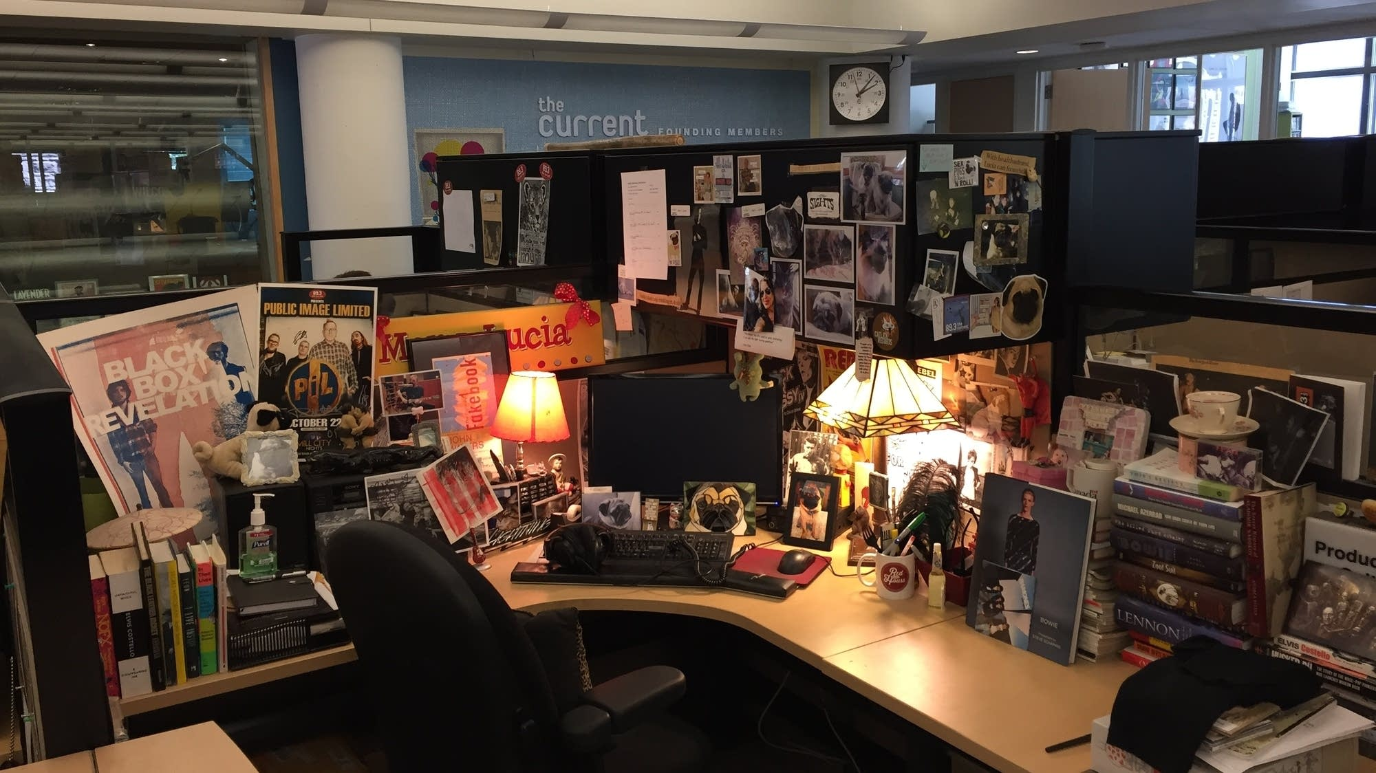 Mary Lucia's desk at The Current