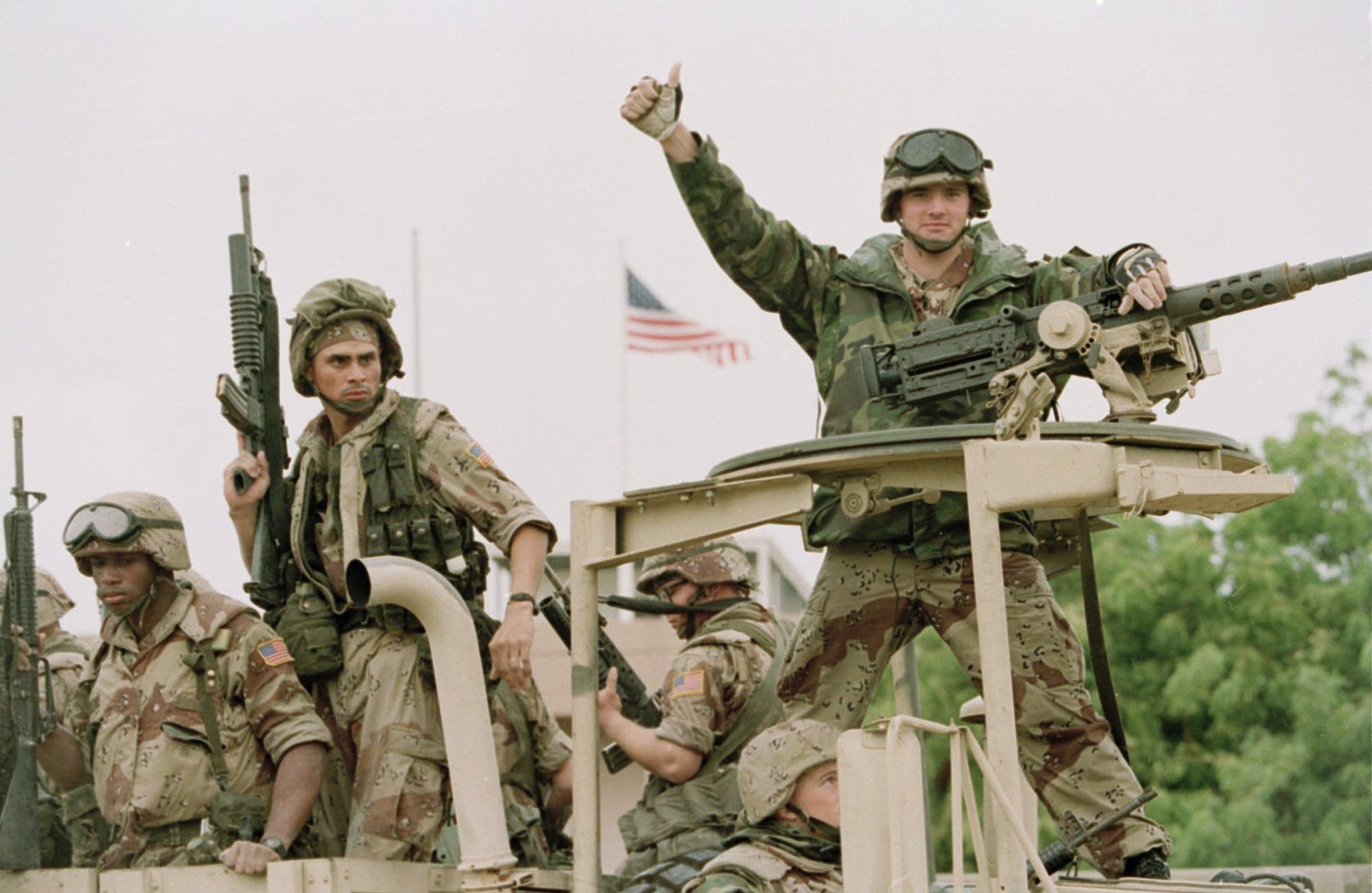 A U.S. Marine in Somalia in 1992